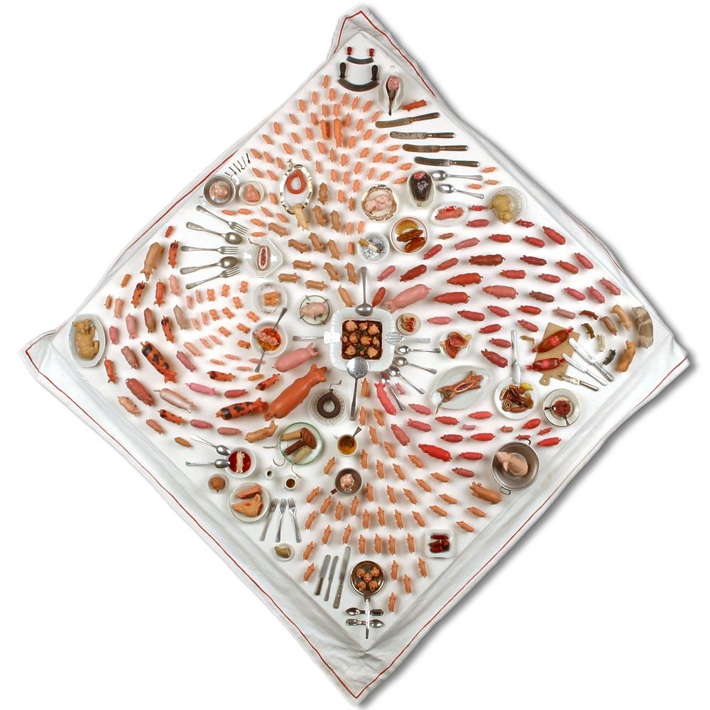 No. 1 | DAS GROSSE FRESSEN | 2009 | Assemblage | 60 x 60 x 9 cm